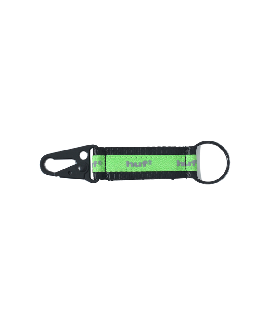 EASY KEYCHAIN(BLACK/GREEN, O/S)