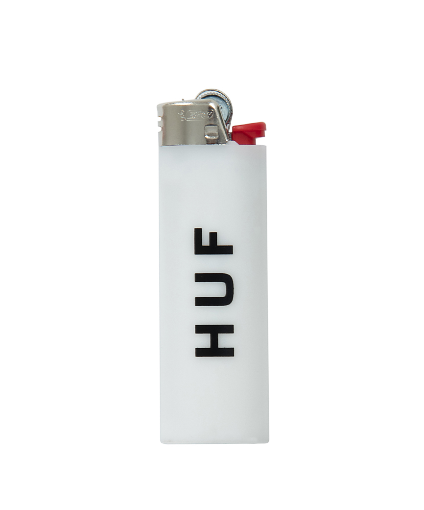 HUF BIC LIGHTER(WHITE/BLACK, O/S)