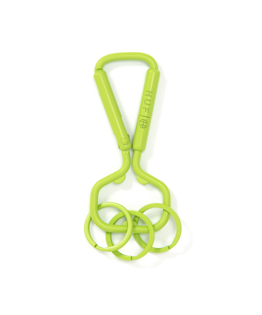 BOTTLE OPENER CARABINER(GREEN, O/S)