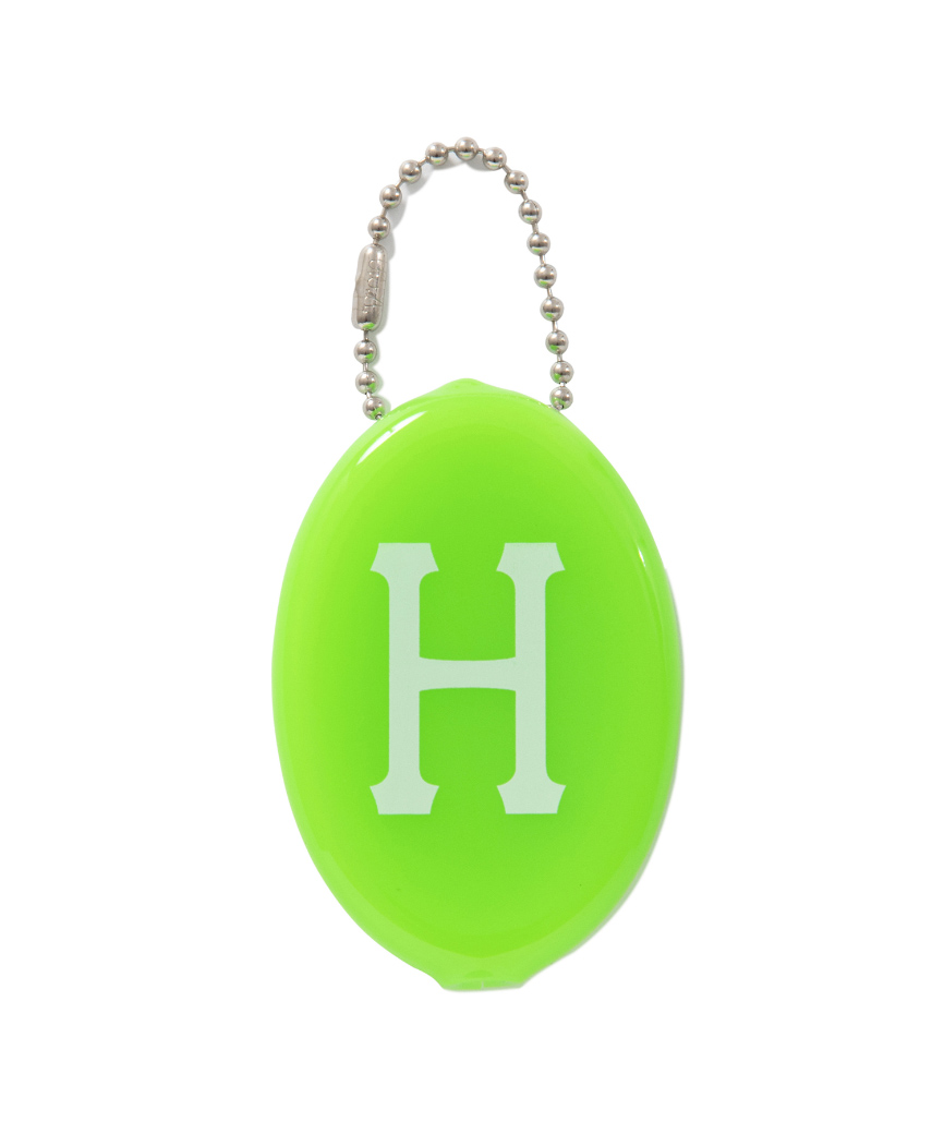 CLASSIC H COIN CASE(HUF GREEN, O/S)