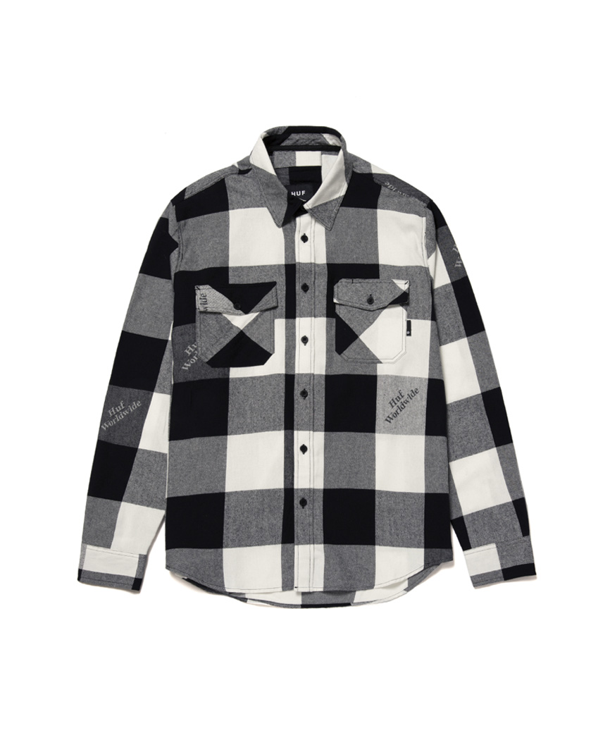 HEIGHTS L/S FLANNEL(BLACK, M)