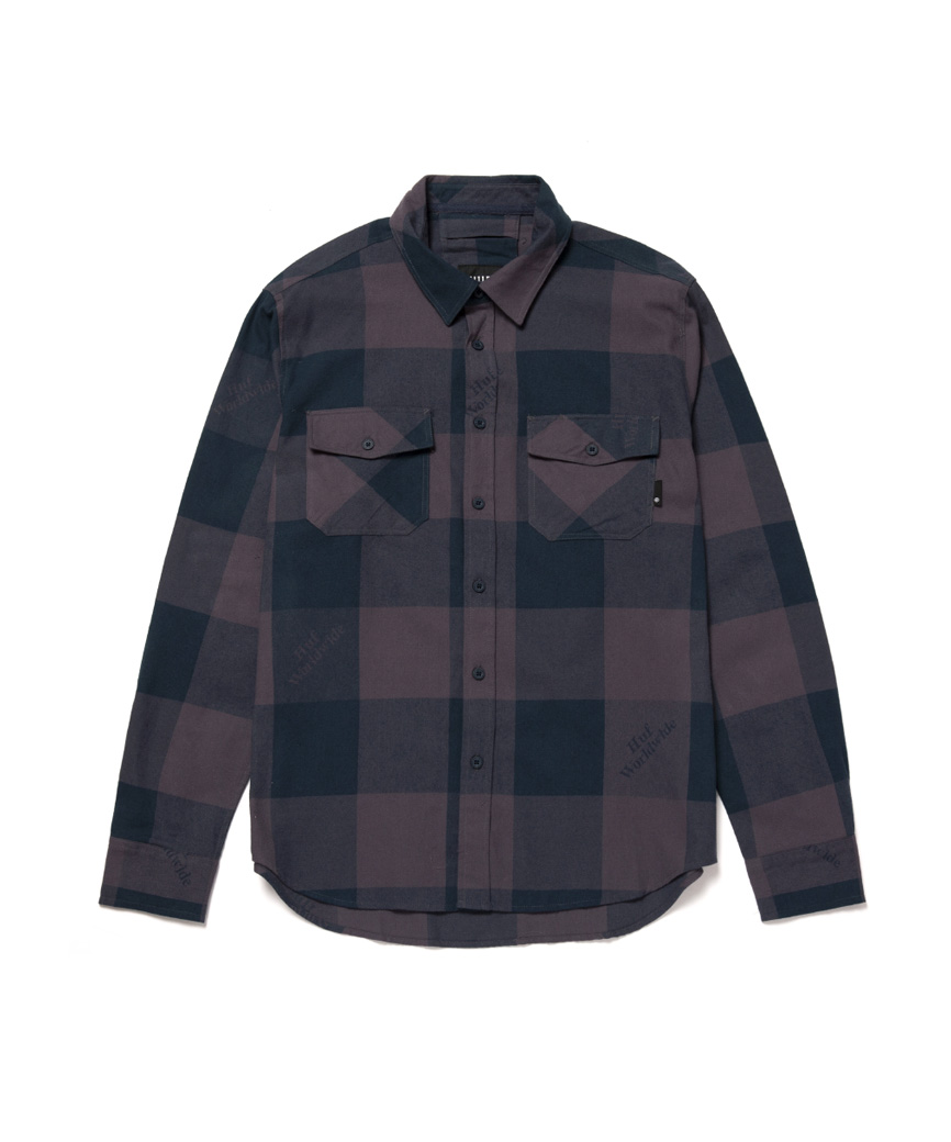 HEIGHTS L/S FLANNEL(VINTAGE VIOLET, M)