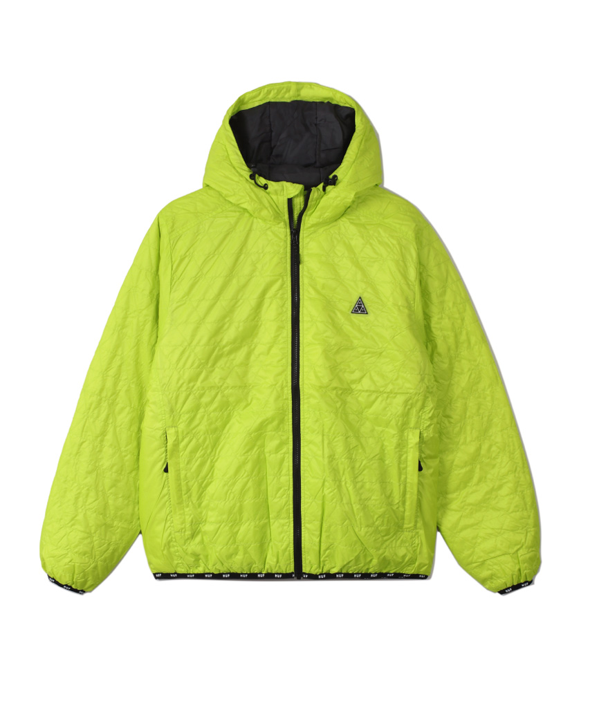 POLYGON QUILTED JACKET(BIO LIME, S)