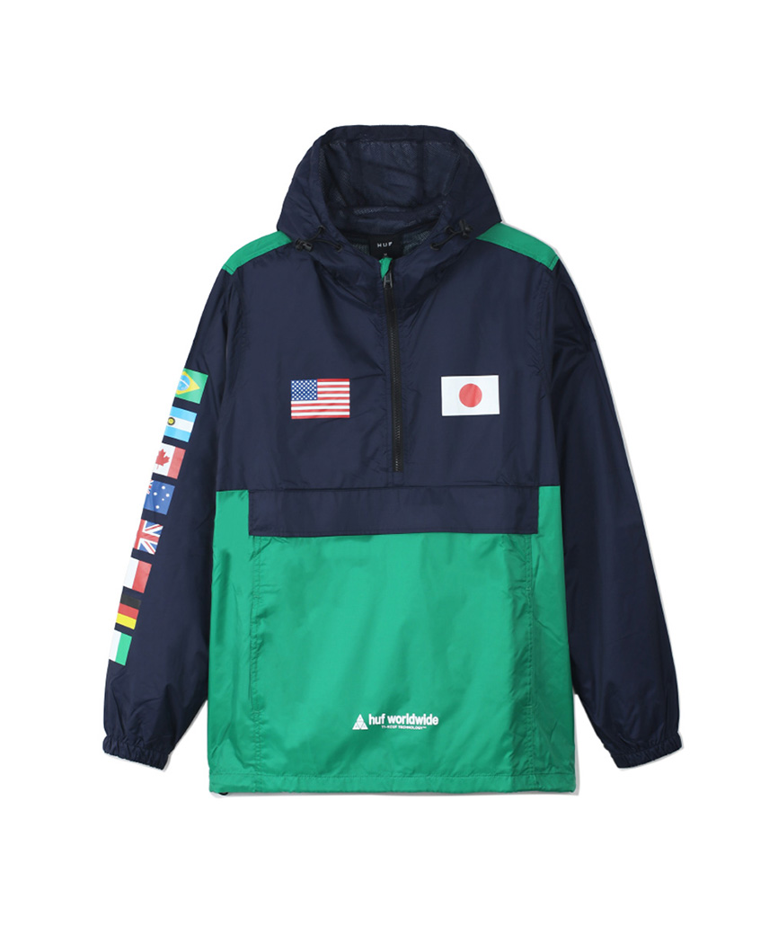 FLAGS ANORAK JACKET