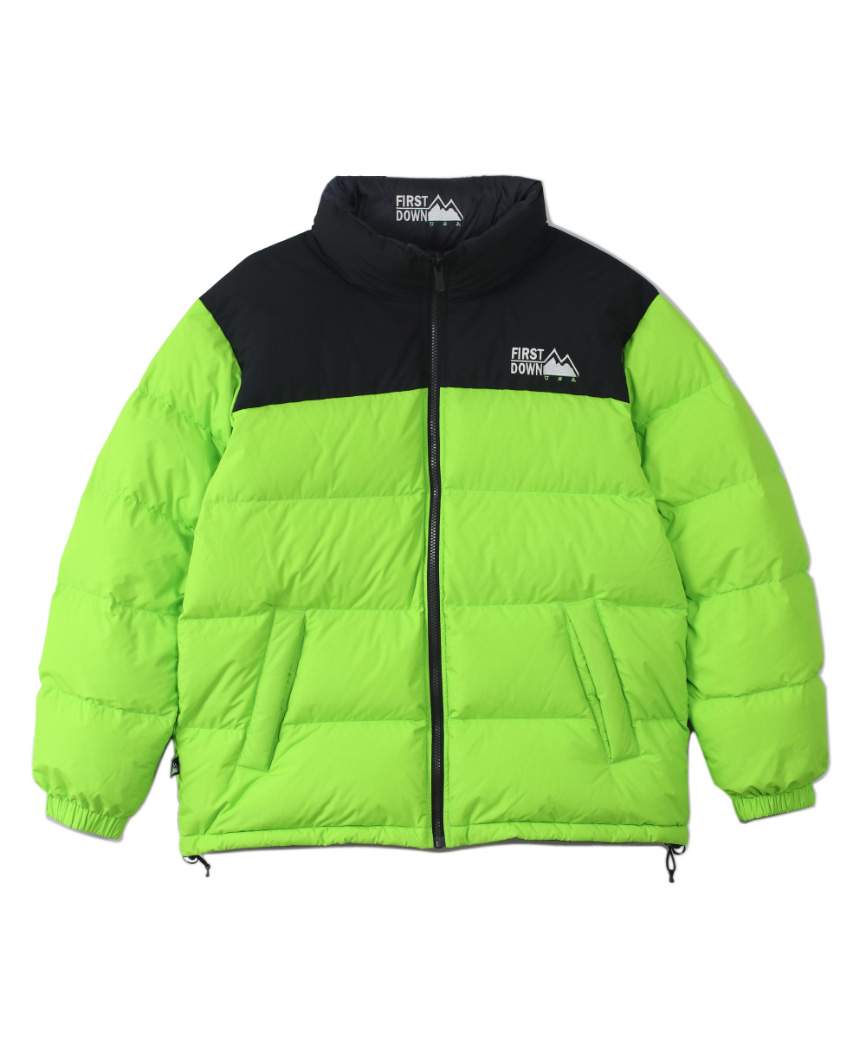HUF x FIRST DOWN USA REVERSIBLE JACKET(GREEN, S)
