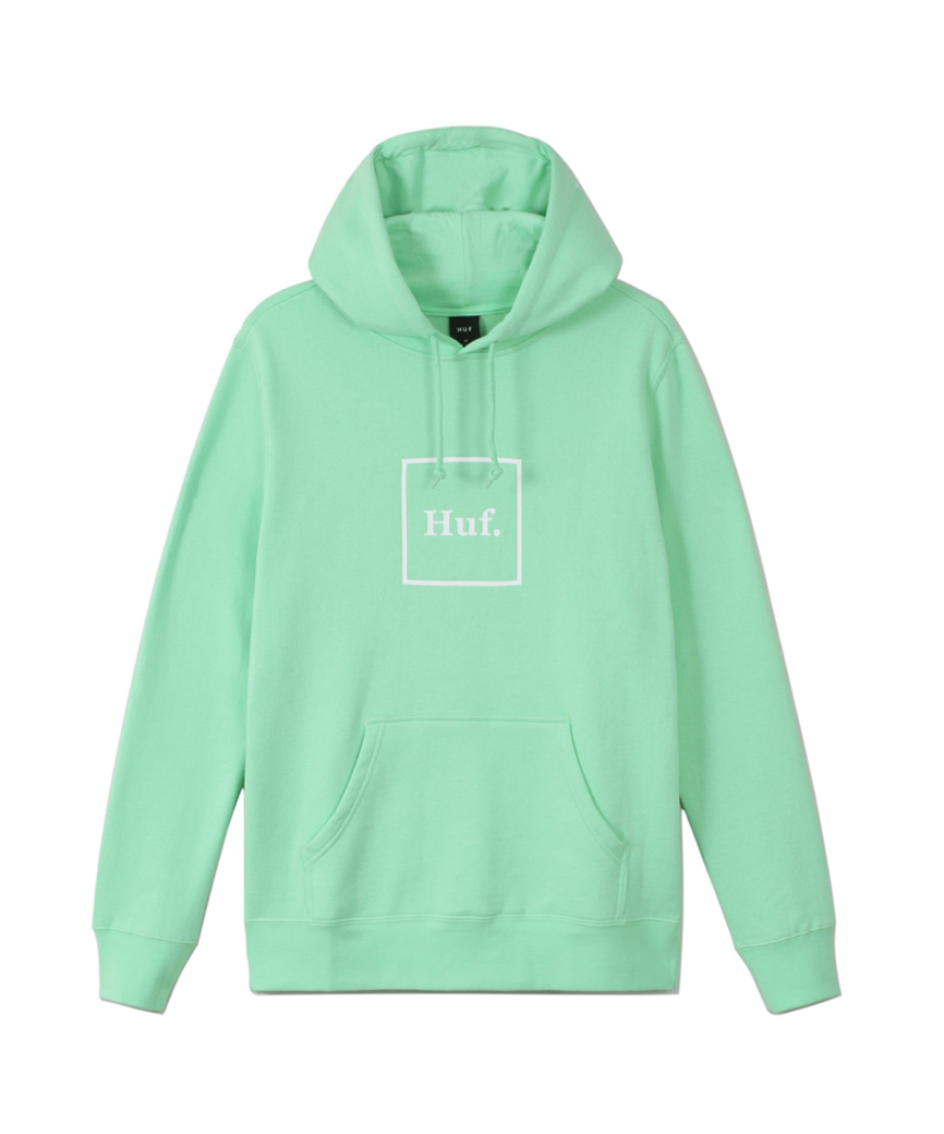 ESSENTIALS BOX LOGO P/O HOODIE(NEO MINT, XXL)