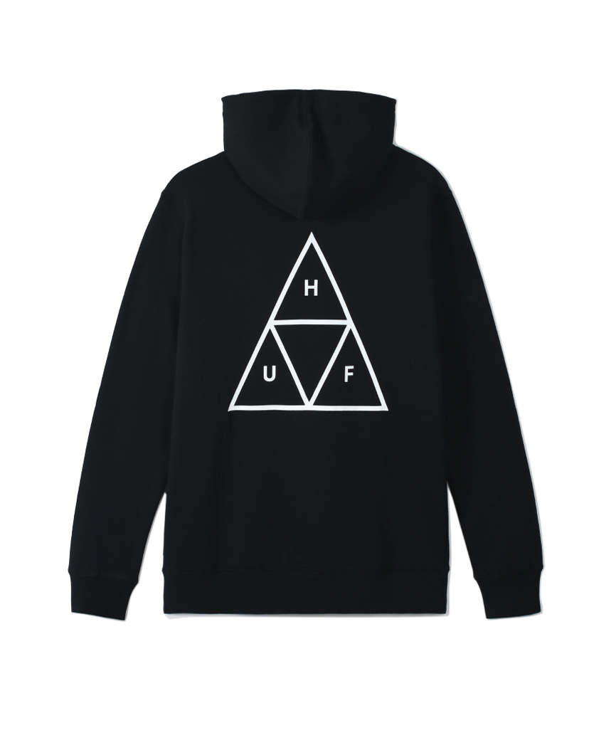 ESSENTIALS TT P/O HOODIE(BLACK, XL)