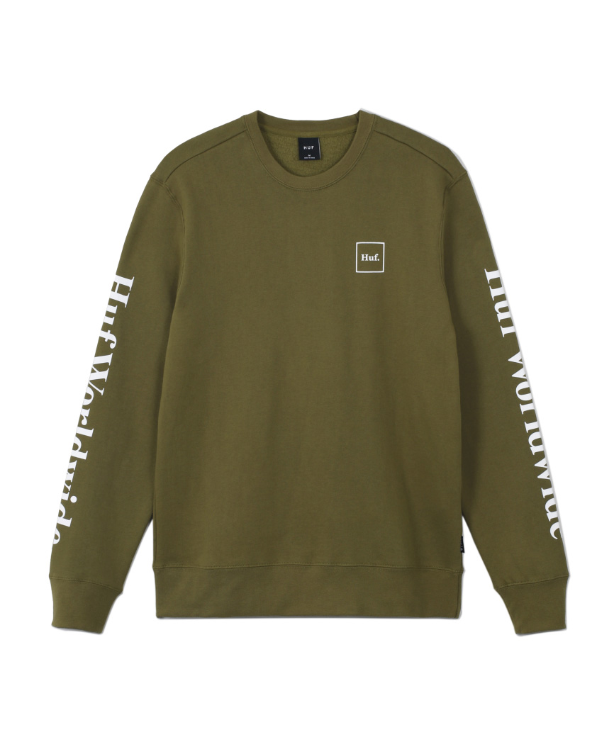 ESSENTIALS DOMESTIC CREW(GREEN, M)