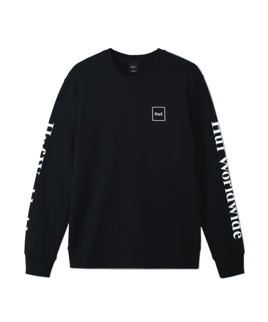 ESSENTIALS DOMESTIC CREW(BLACK, M)