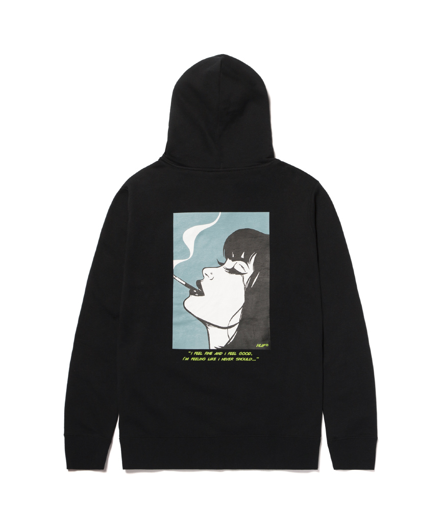 I FEELS GOOD P/O HOODIE(BLACK, XL)
