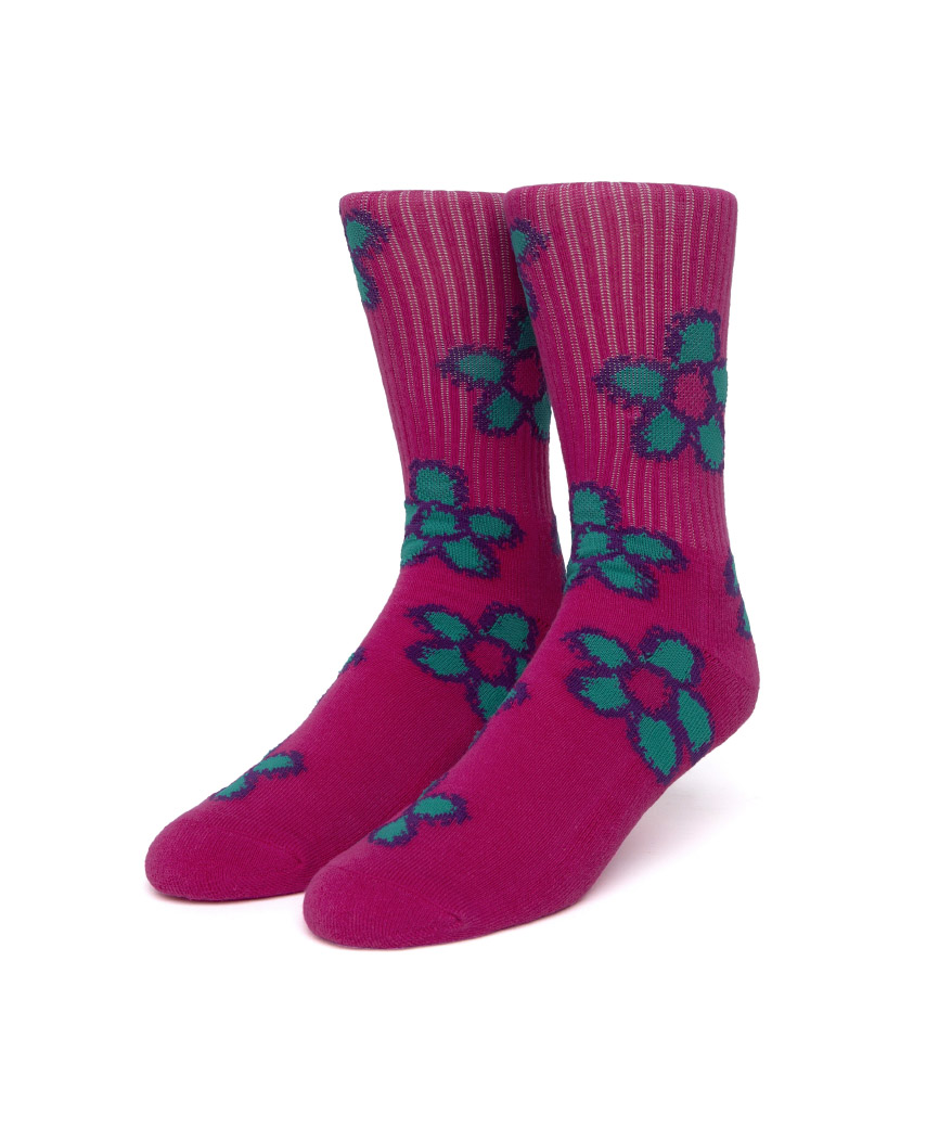 PUSHING DAISIES TT SOCK(PINK, O/S)