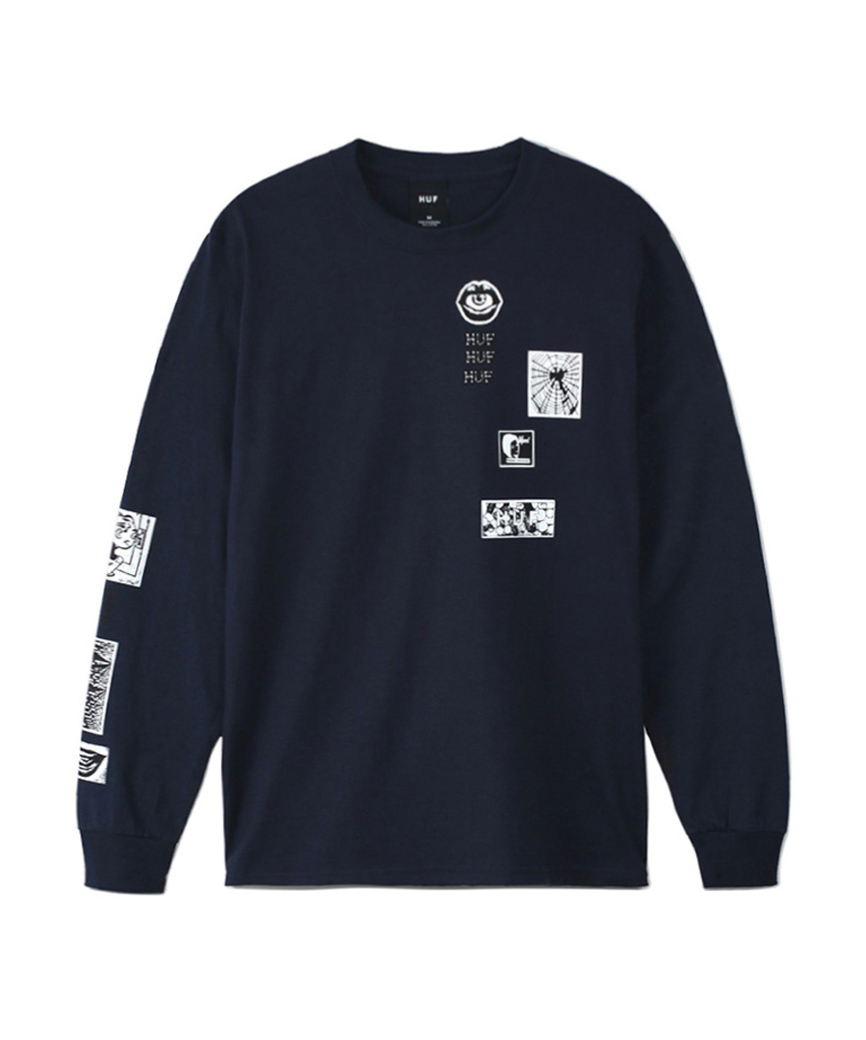 MASTERS L/S TEE(FRENCH NAVY, XL)