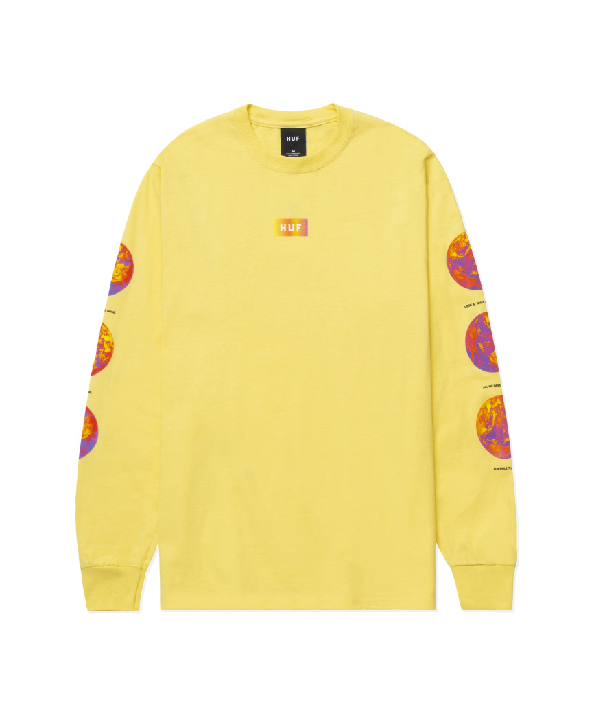 CLIMATE MELTDOWN L/S TEE(YELLOW, L)