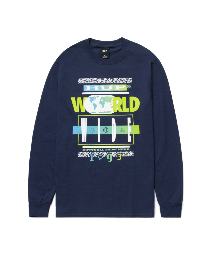 93 TOUR L/S TEE(NAVY, XL)