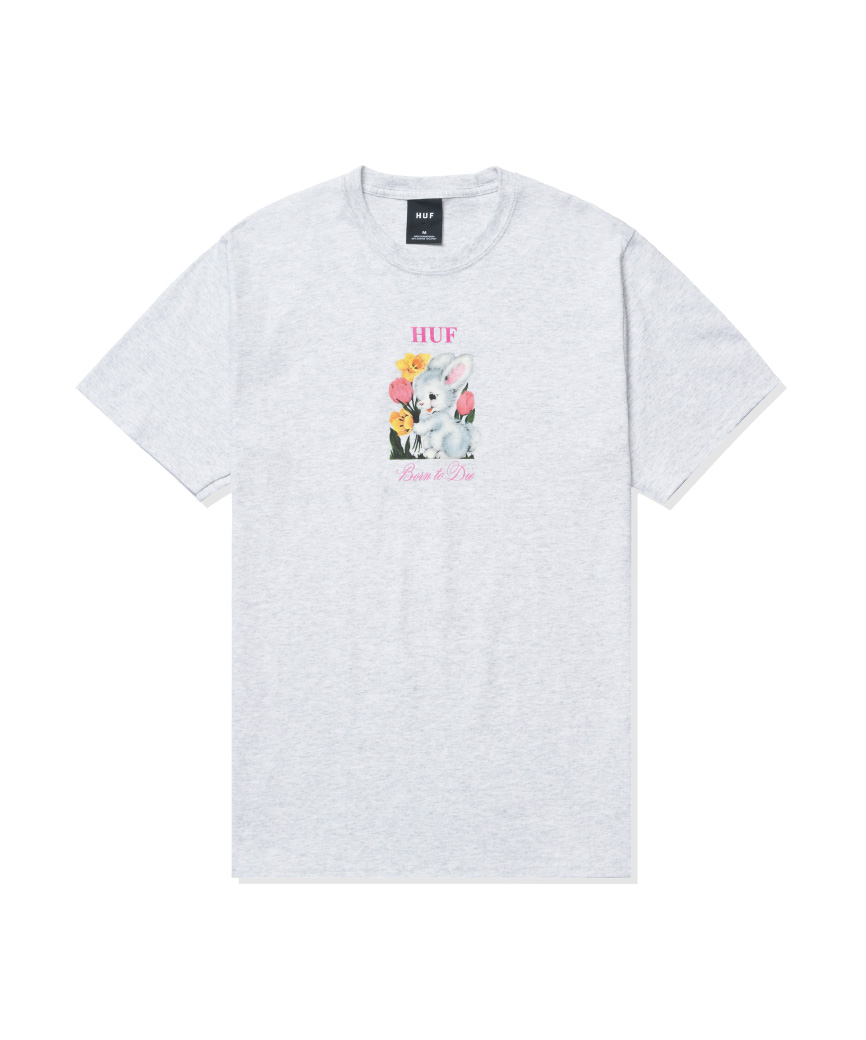 BORN TO DIE S/S TEE(ASH, XL)