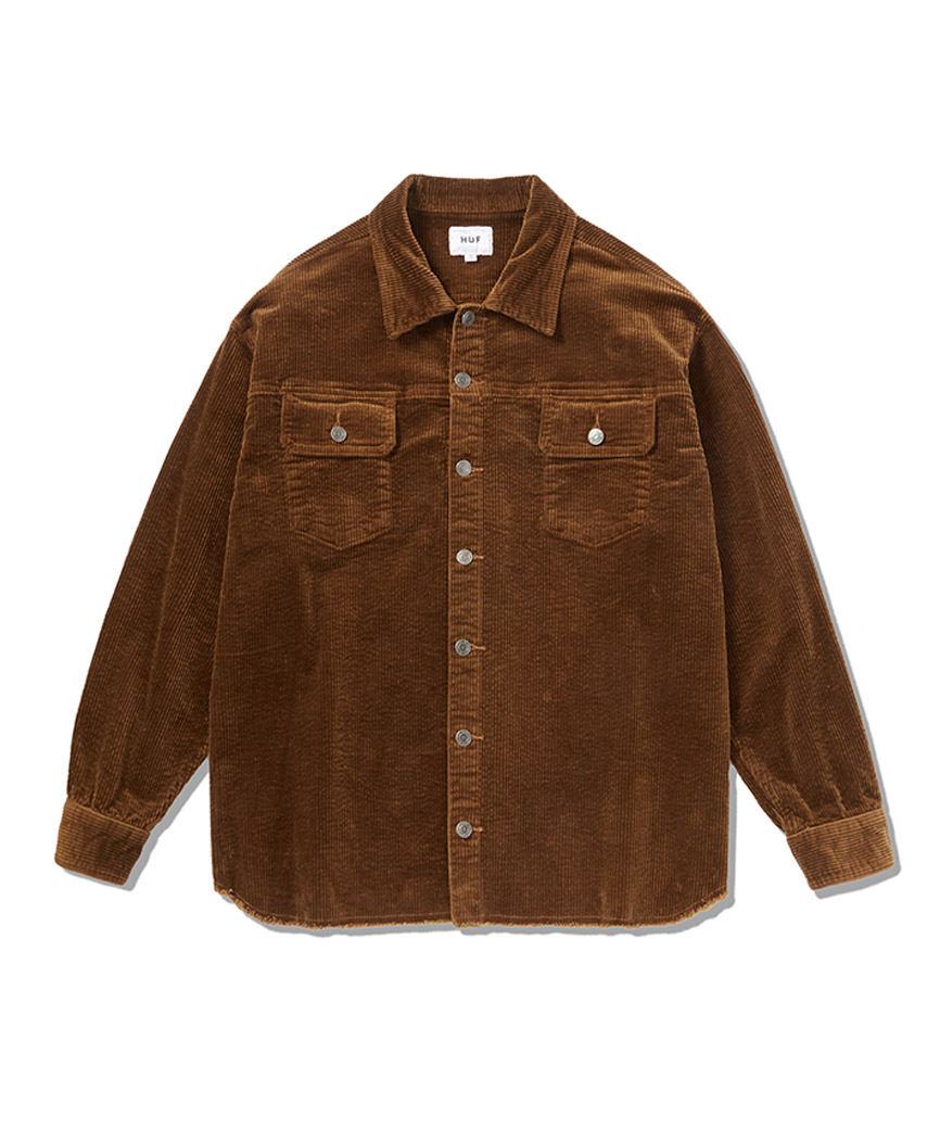 HUF WOMEN'S CORDUROY WORK SHIRT