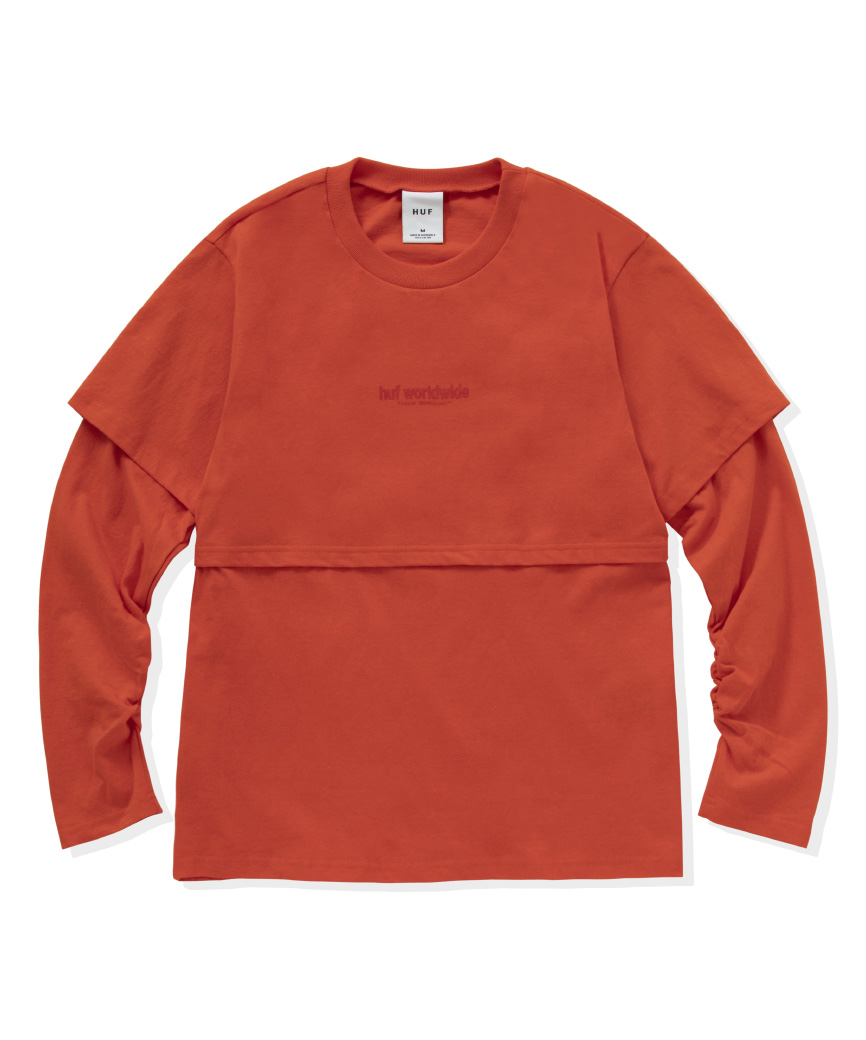 HUF WOMEN'S HUF T1-KCUF L/S KNIT TOP
