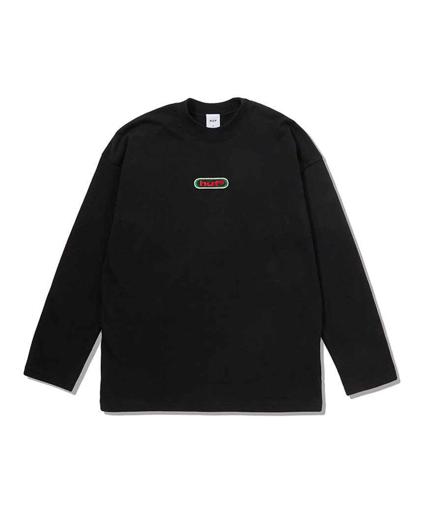 HUF WOMEN'S 98LOGO MOCK NECK L/S TOP