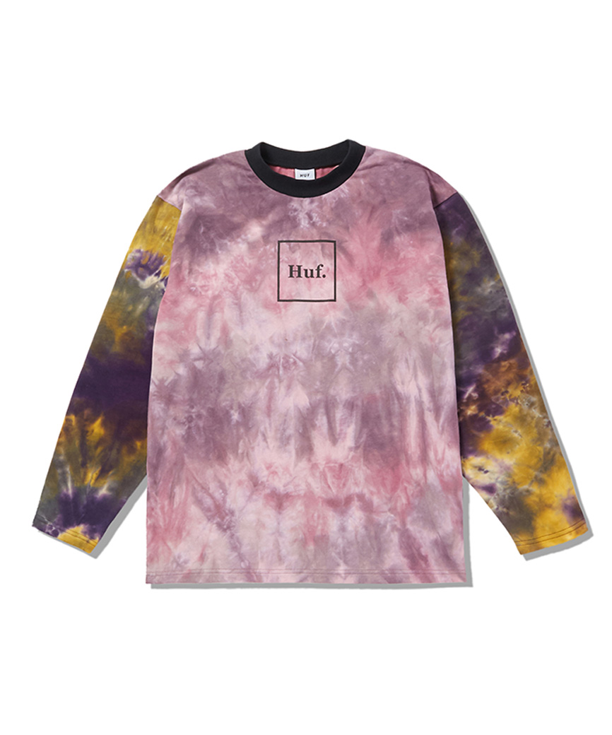 HUF WOMEN'S DOMESTIC TIEDYE L/S TEE